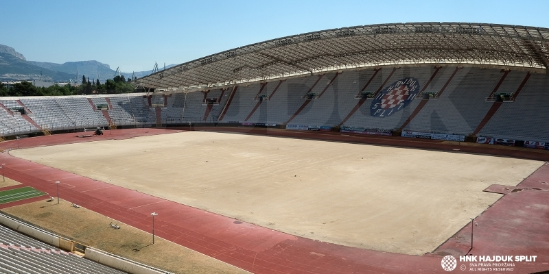The first phase of works on Poljuds main pitch has been completed
