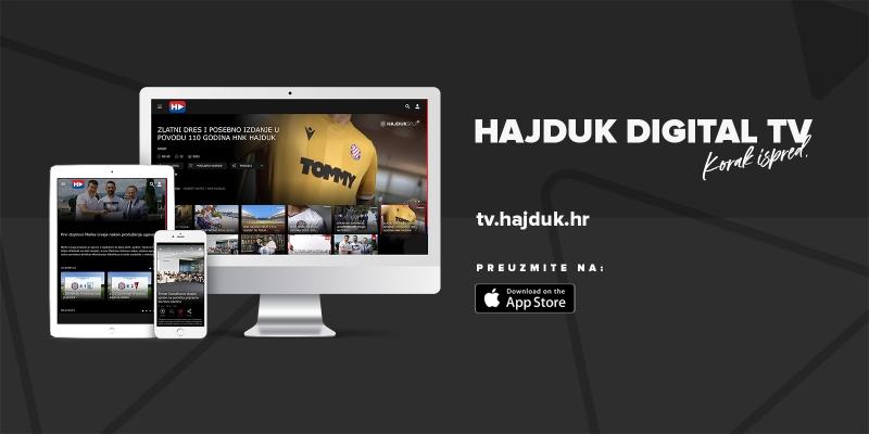 Korak ispred: Hajduk lansirao Hajduk Digital TV – OTT aplikaciju!