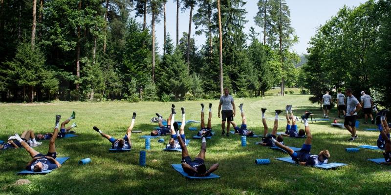 Početak priprema u Zreču: Bijeli dan započeli treningom snage