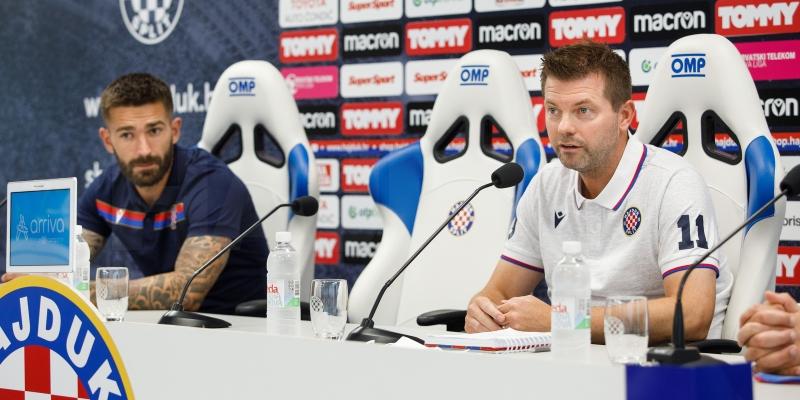 Trener Gustafsson i Marko Livaja uoči utakmice Hajduk - Tobol