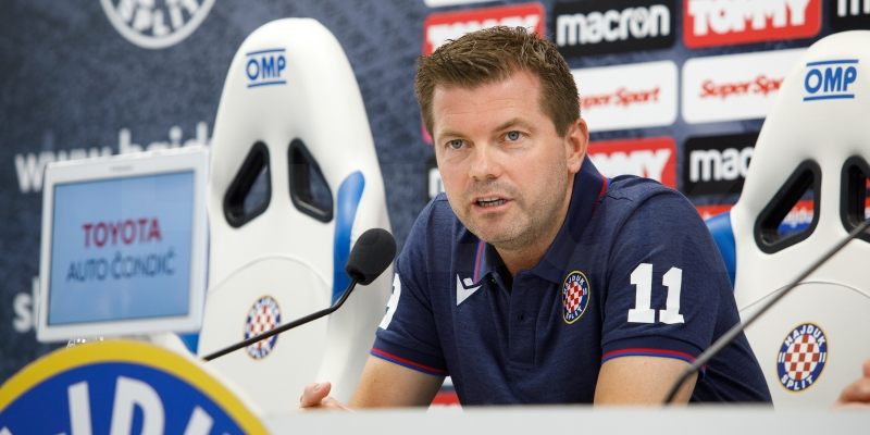 Trener Jens Gustafsson uoči utakmice Gorica - Hajduk