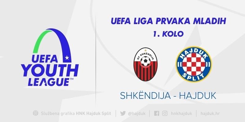UEFA Liga prvaka mladih: Hajduk prvu utakmicu igra u Skopju 30. rujna, uzvrat 19. listopada na Poljudu